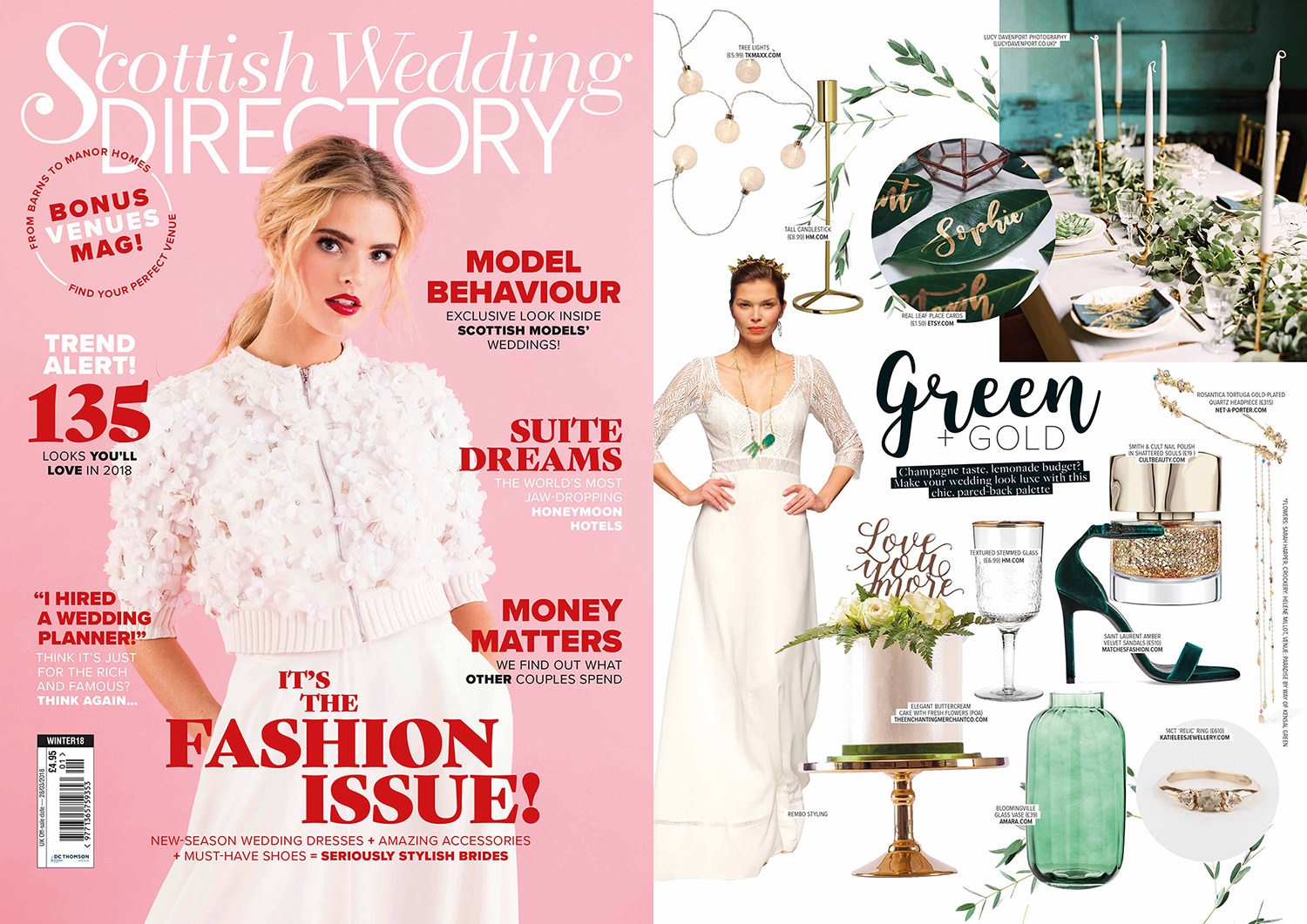 Scottish wedding directory, inspirational magazine, Something blue