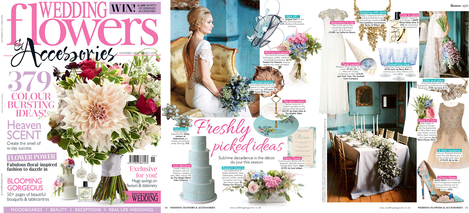 Wedding Flowers magazine, something blue