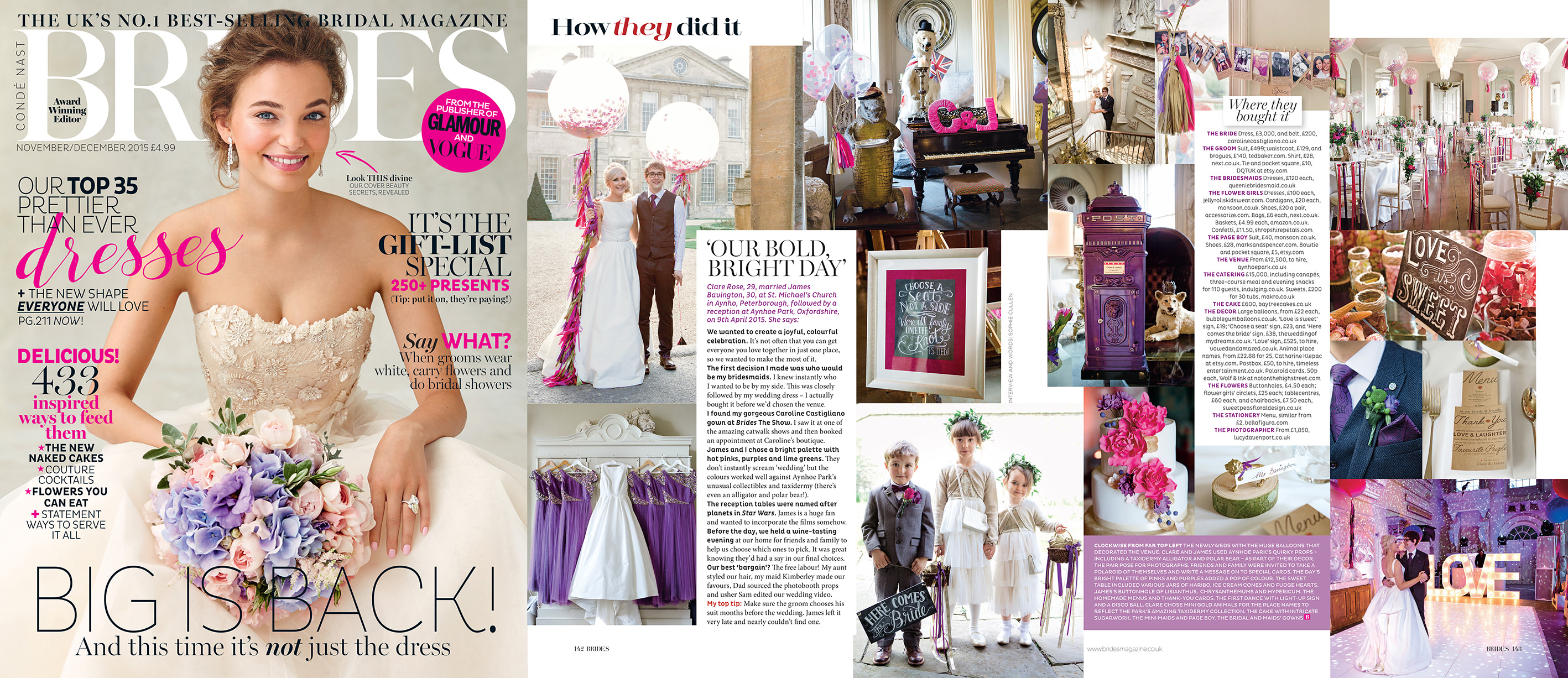 Brides magazine, Lucy Davenport Photography