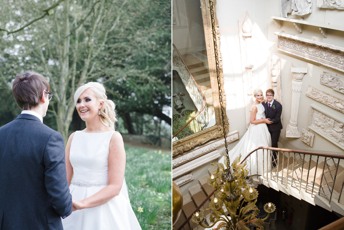 Colourful wedding, Aynhoe Park, Brides magazine, Lucy Davenport Photography, bride and groom.
