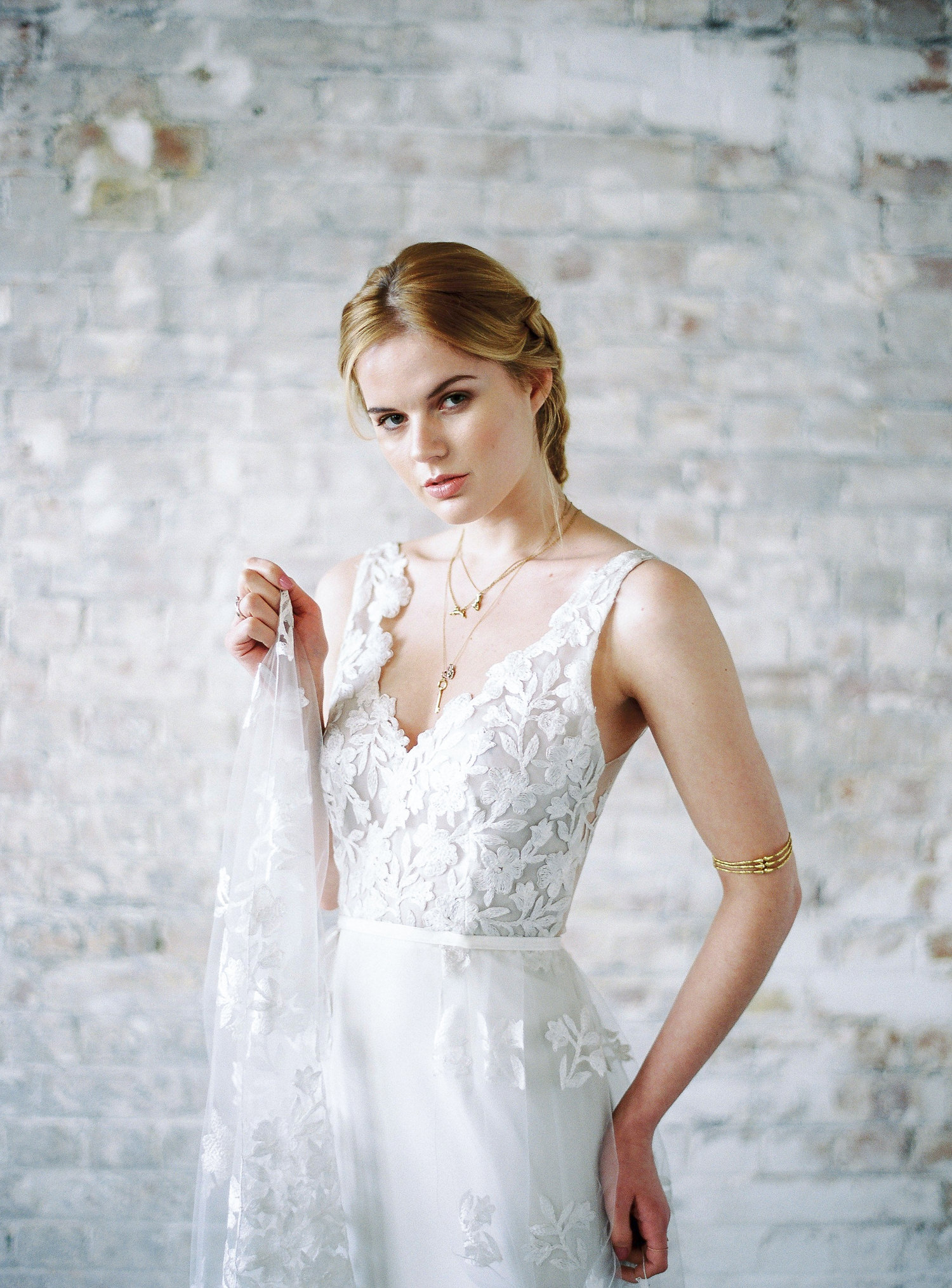 Light Catcher Delicate Darkness, Lucy Davenport Photography, layered wedding dress
