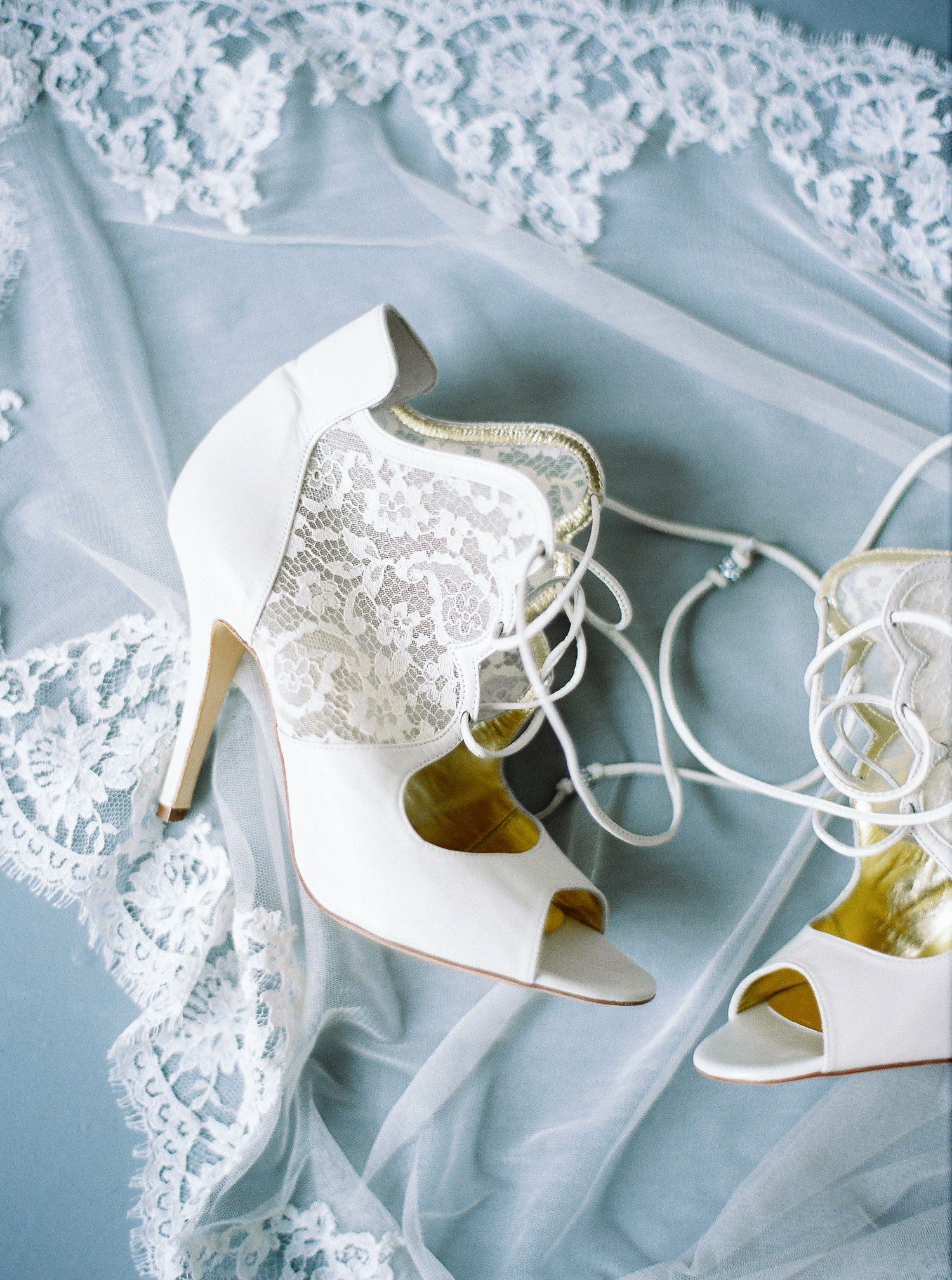 Freya Rose wedding shoes, veil