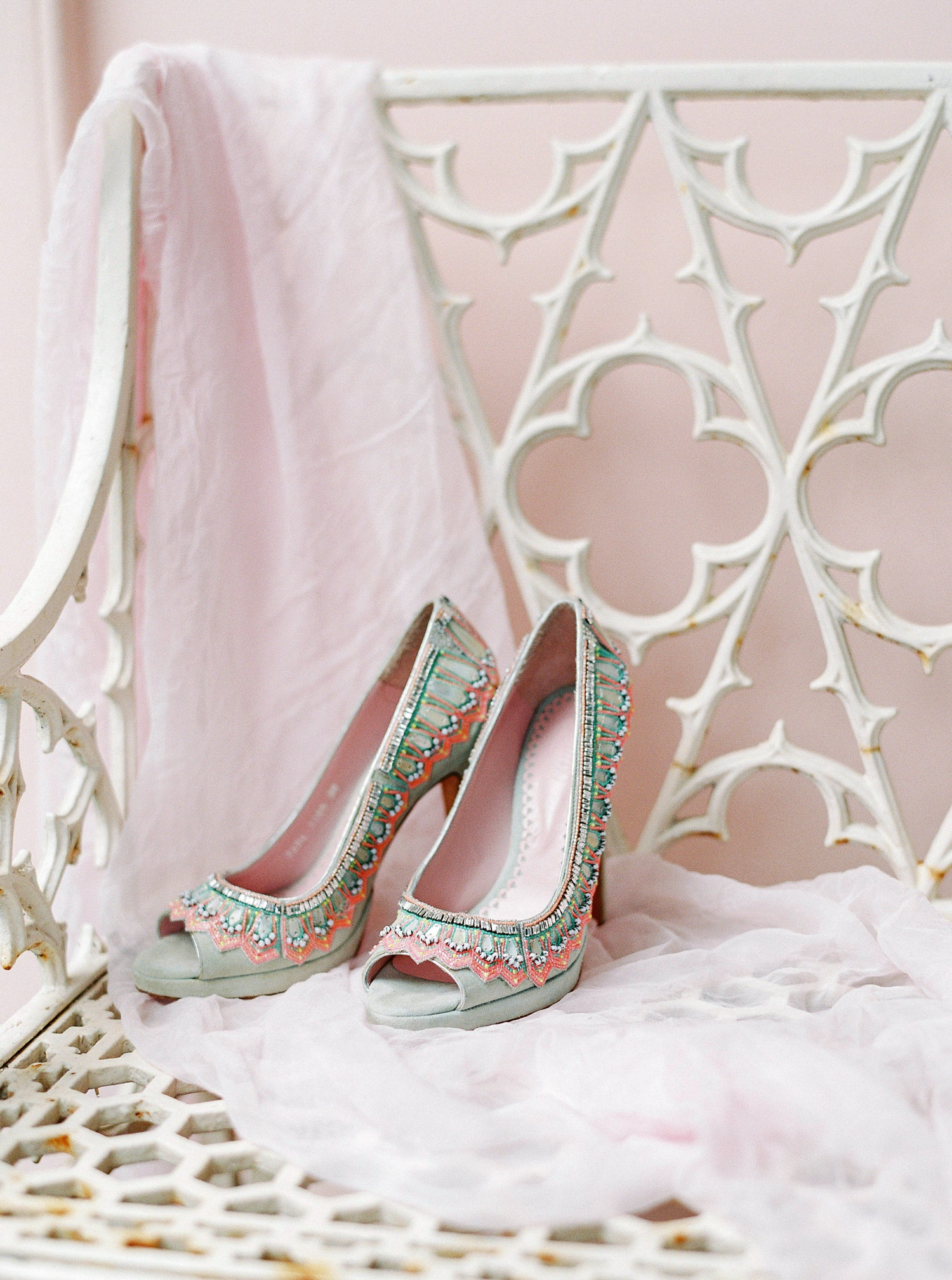 Emmy London, coloured wedding shoes