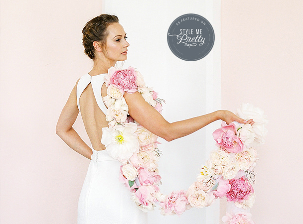 Sezincote bride floral boa