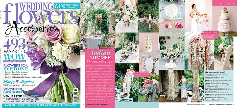 Wedding flowers magazine, Sezincote wedding editorial