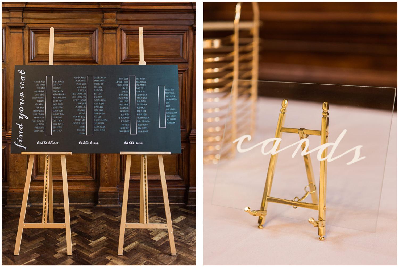 Table plan chalk board, Lucy Davenport Photography, Classic wedding, acrylic wedding sign