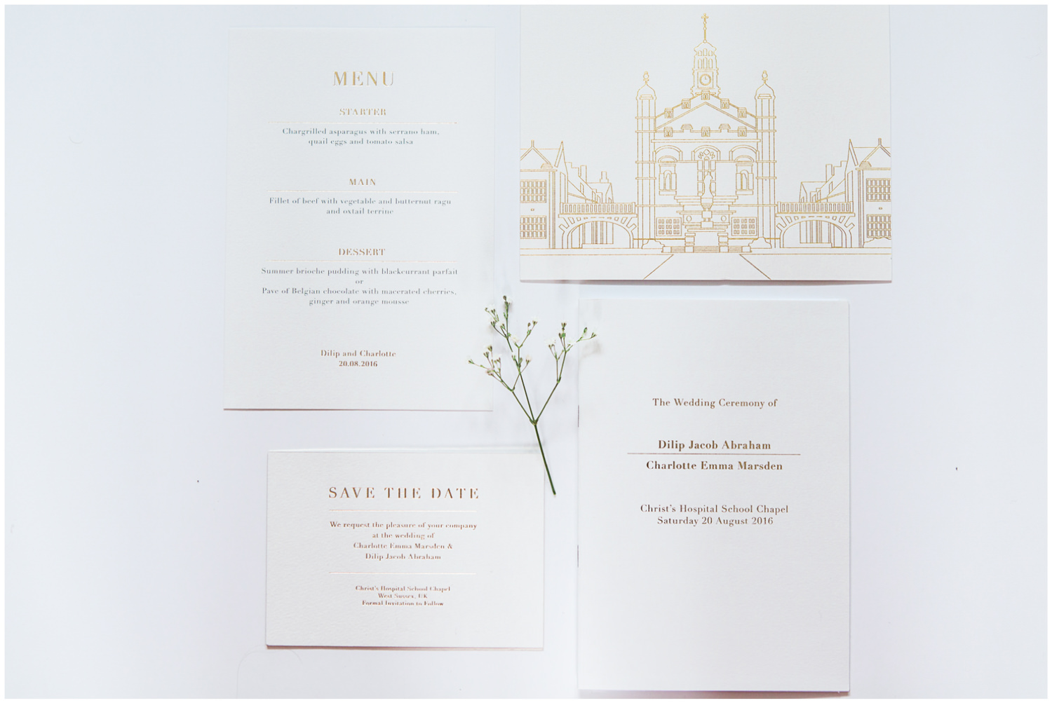 Classic wedding stationery, Jo Glover, Lucy Davenport Photography, Classic wedding