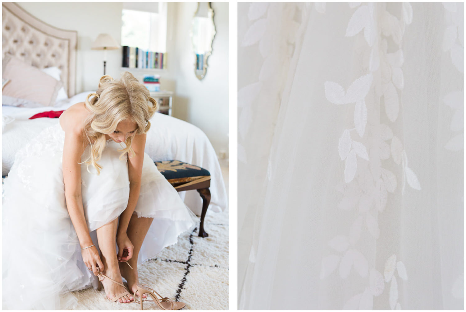 Lucy Davenport Photography, Classic wedding, Bride getting ready at Tor Hatch, she wore Mira Zwillinger and gianvito rossi shoes.
