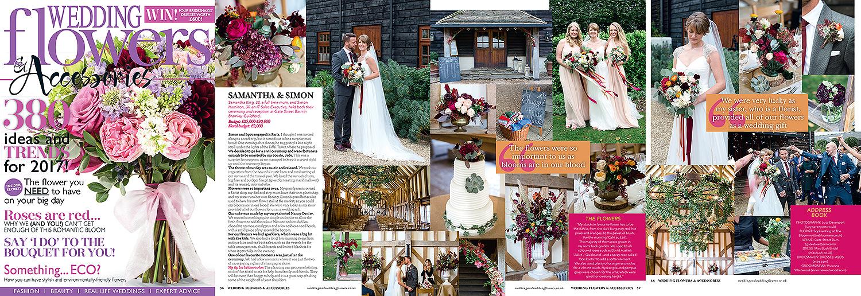 Wedding flowers magazine, autumn wedding, Gate Street Barn. Lucy Davenport Photography