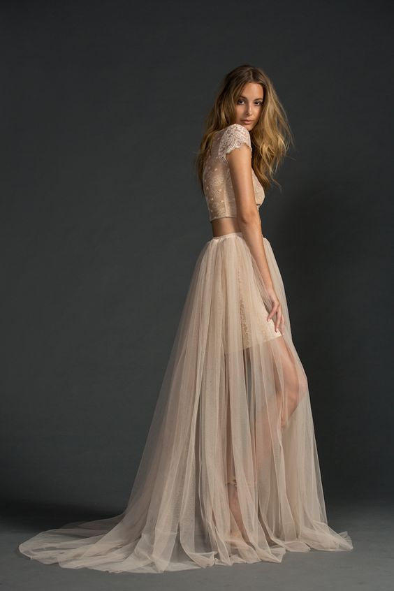 Bridal separates, bridal two piece, tulle, Grace Loves Lace,