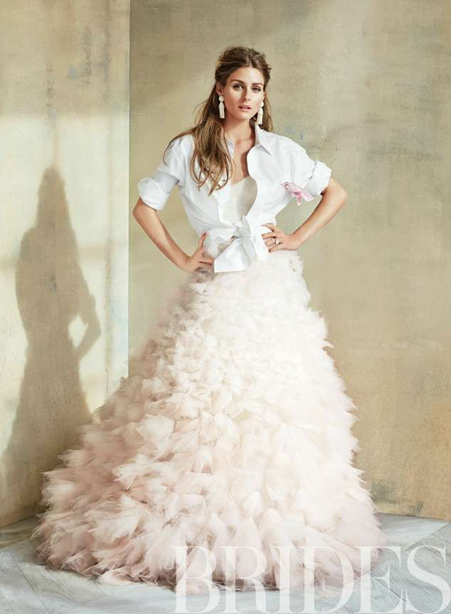 Bridal separates, bridal two piece, Olivia Palermo, vogue, Brides, Conde Nast.