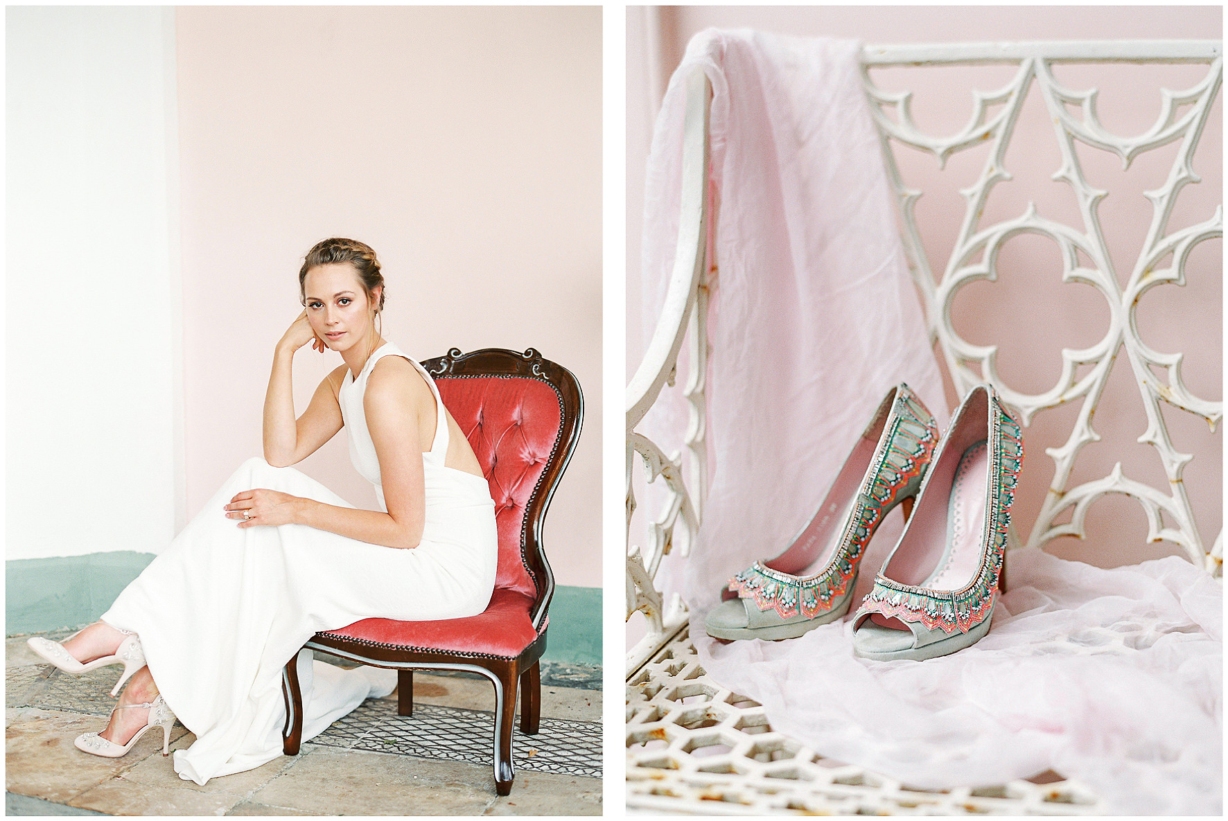 Emmy London, Emmy, Bridal shoes, boutique, wedding shoes, flagship store, Fulham Road, Chelsea Collection, Sezincote, Style Me Pretty. Lucy Davenport Photography