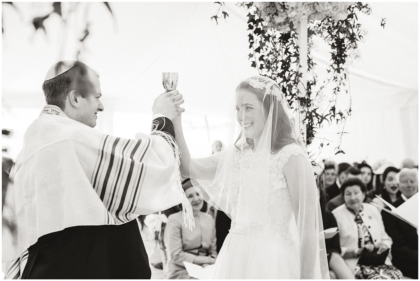 luxury wedding, berkshire, home wedding, Chuppah, wedding ceremony, marquee, Lucy Davenport Photography