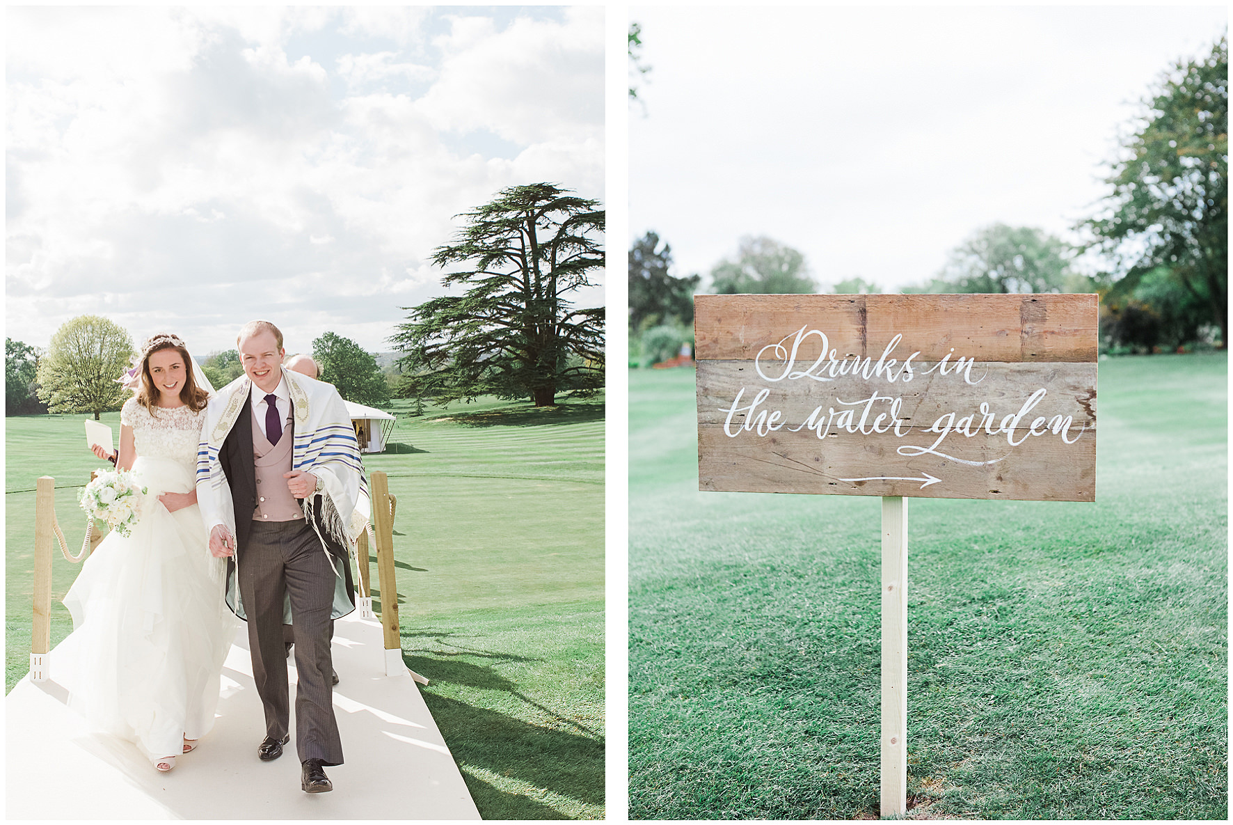 luxury wedding, berkshire, home wedding, wedding signage. Lucy Davenport Photography