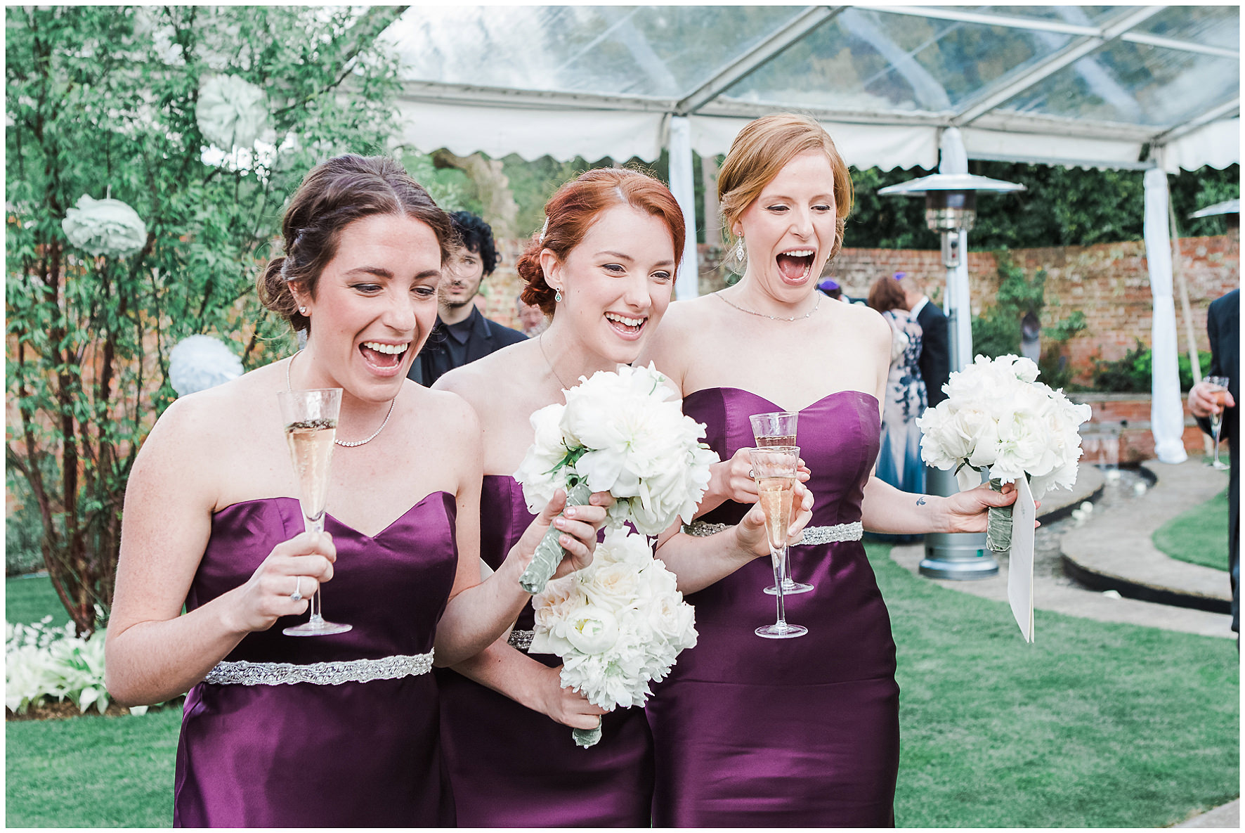 luxury wedding, berkshire, home wedding, bridesmaids, Lucy Davenport Photography