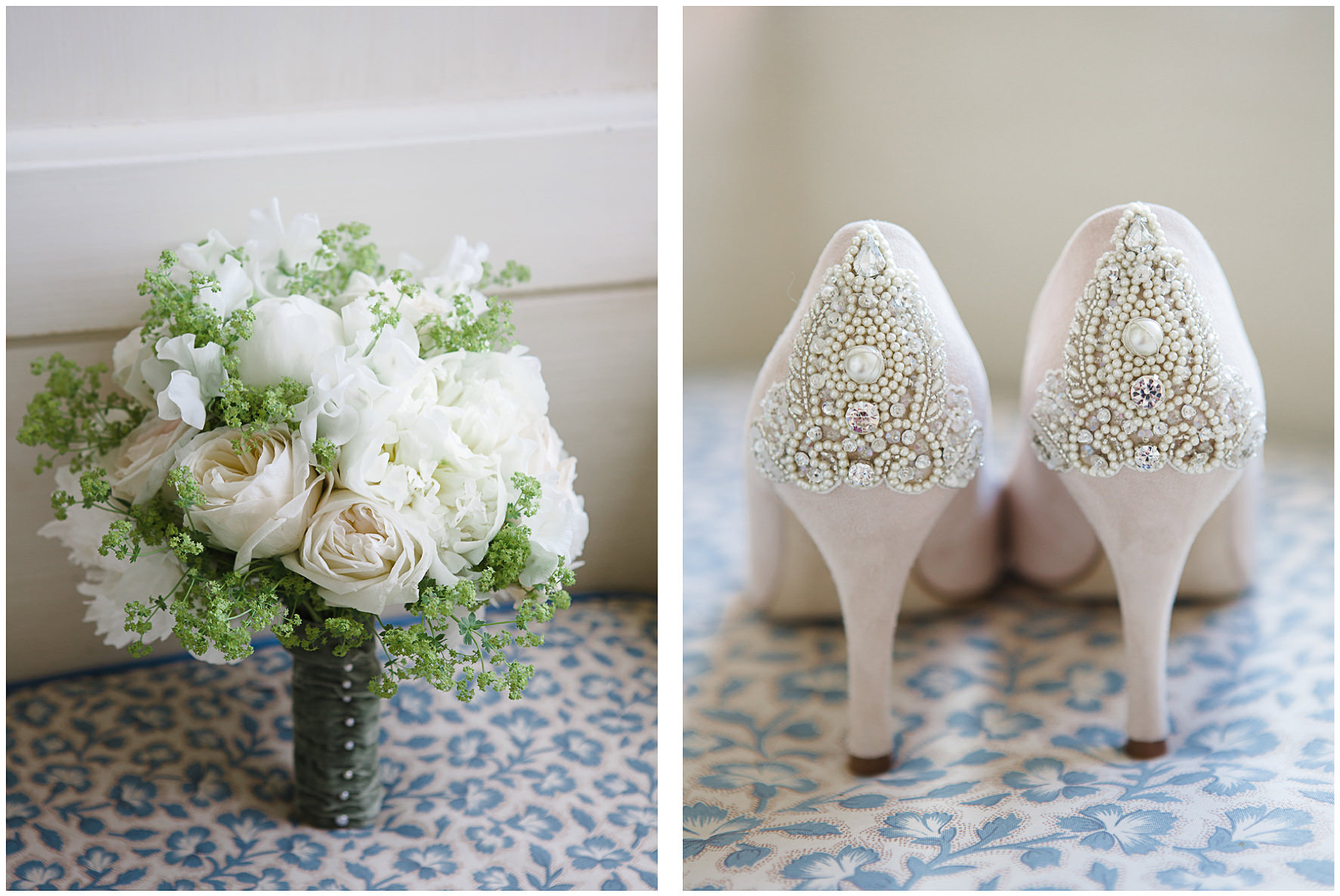 luxury wedding, berkshire, home wedding, emmy shoes, bouquet, Lucy Davenport Photography