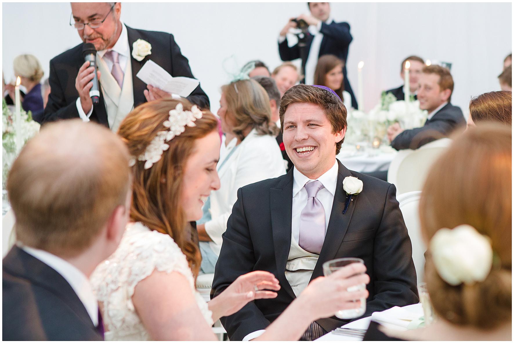 luxury wedding, berkshire, home wedding, wedding breakfast, speeches, Lucy Davenport Photography
