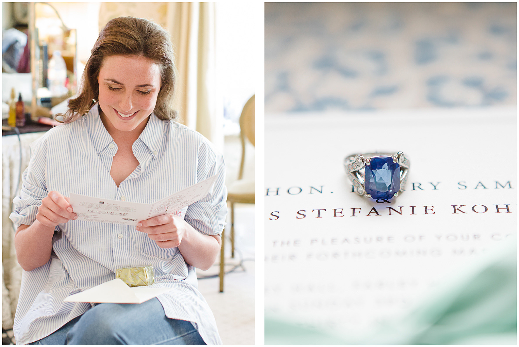 luxury wedding, berkshire, home wedding, engagement ring, bride, wedding stationery. Lucy Davenport Photography
