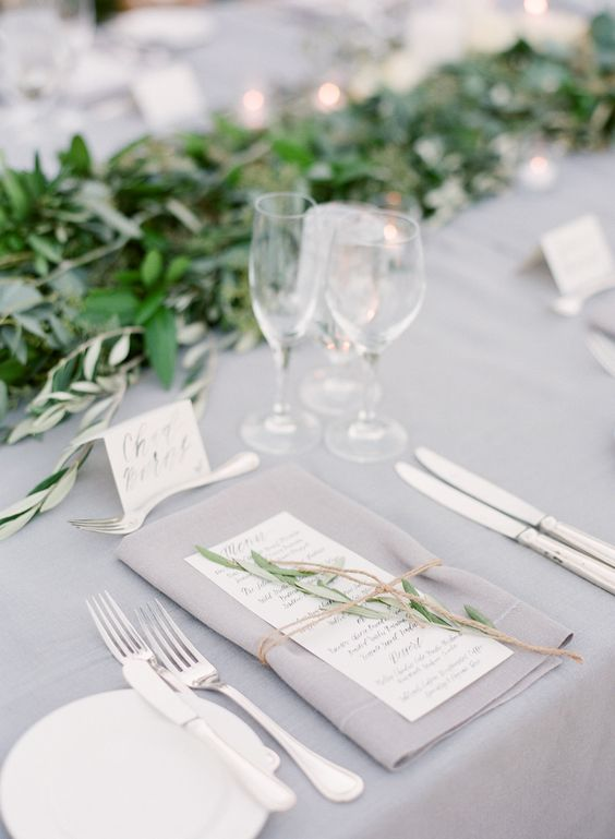 colour scheme, greys and green, wedding breakfast table, tablescape.