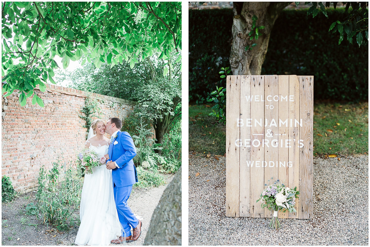 bride and groom, just married, Made by Wood & Wood, wedding sign