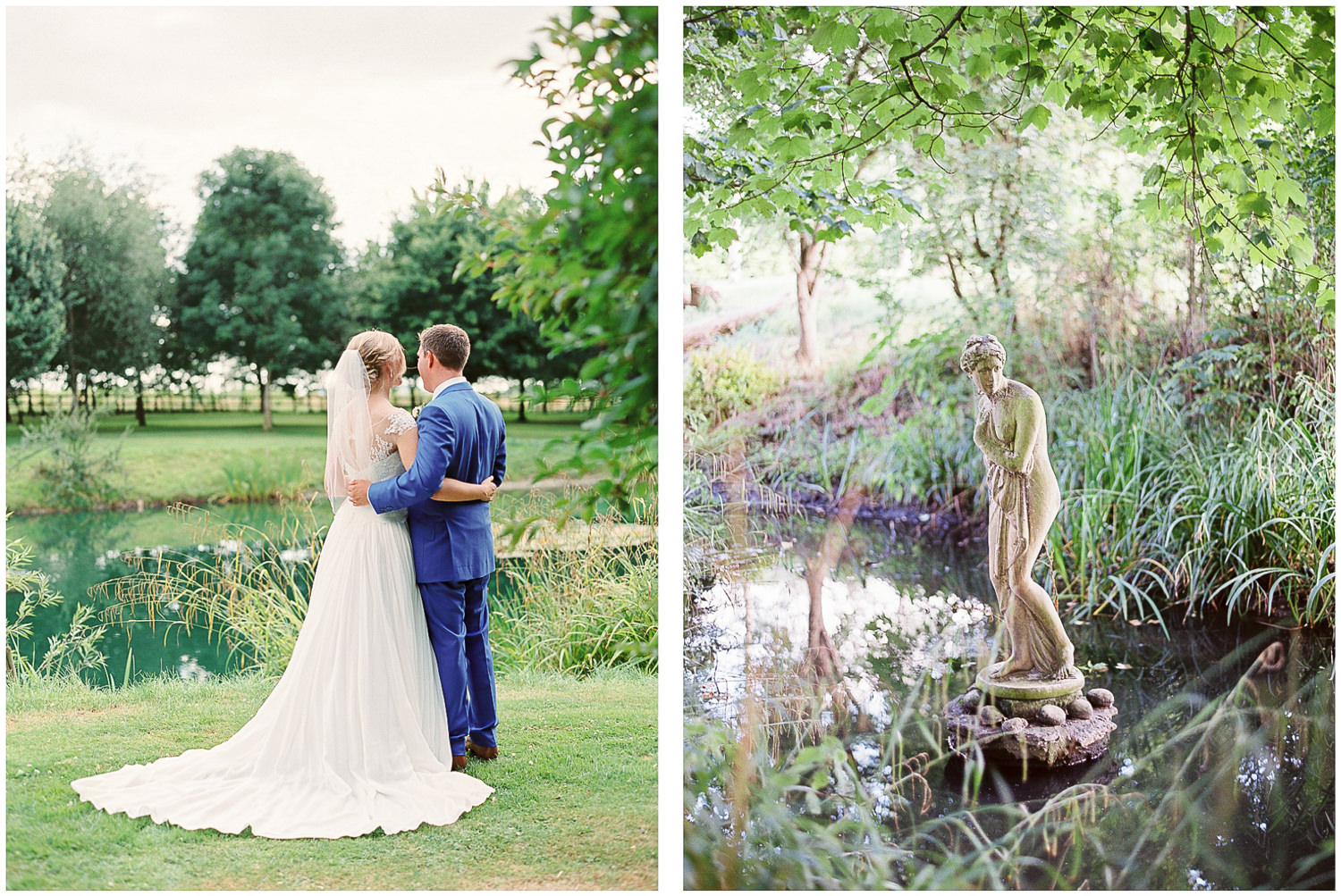 bride and groom, Newington House Gardens