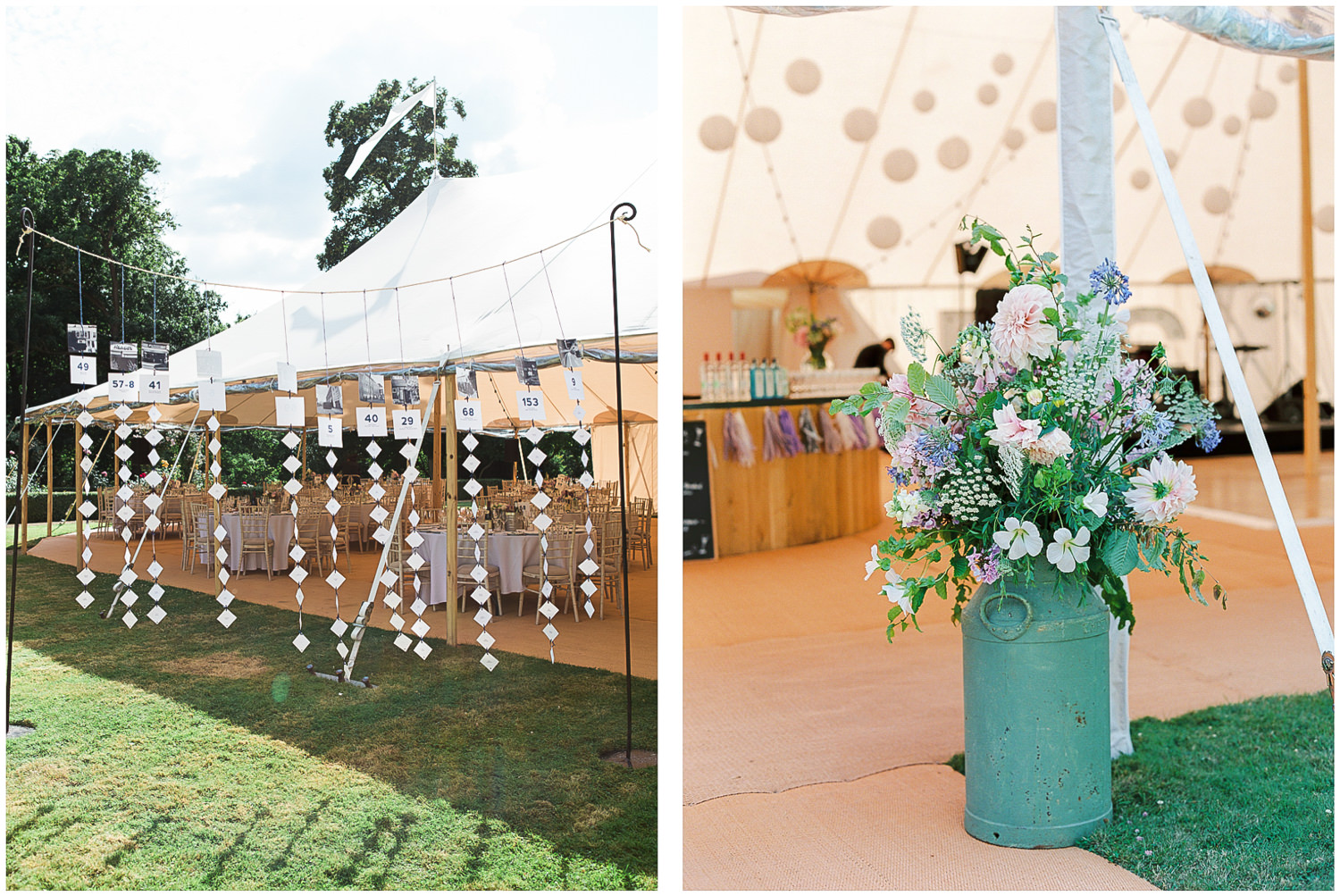 newington house, papakata marquee wedding, garden wedding, Sperry tent, Floral churns