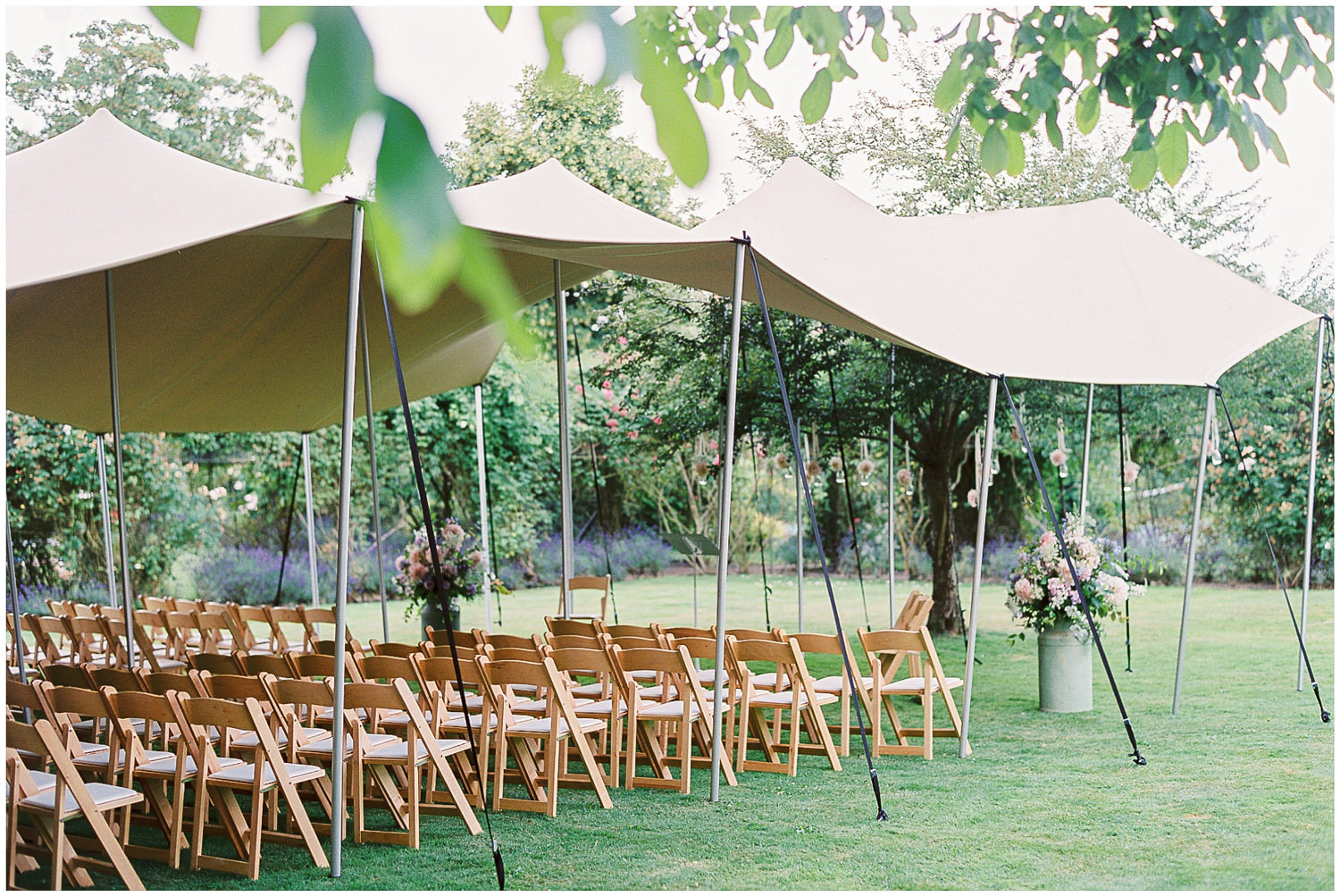 newington house, papakata marquee wedding, outdoor ceremony, green & gorgeous, canopy