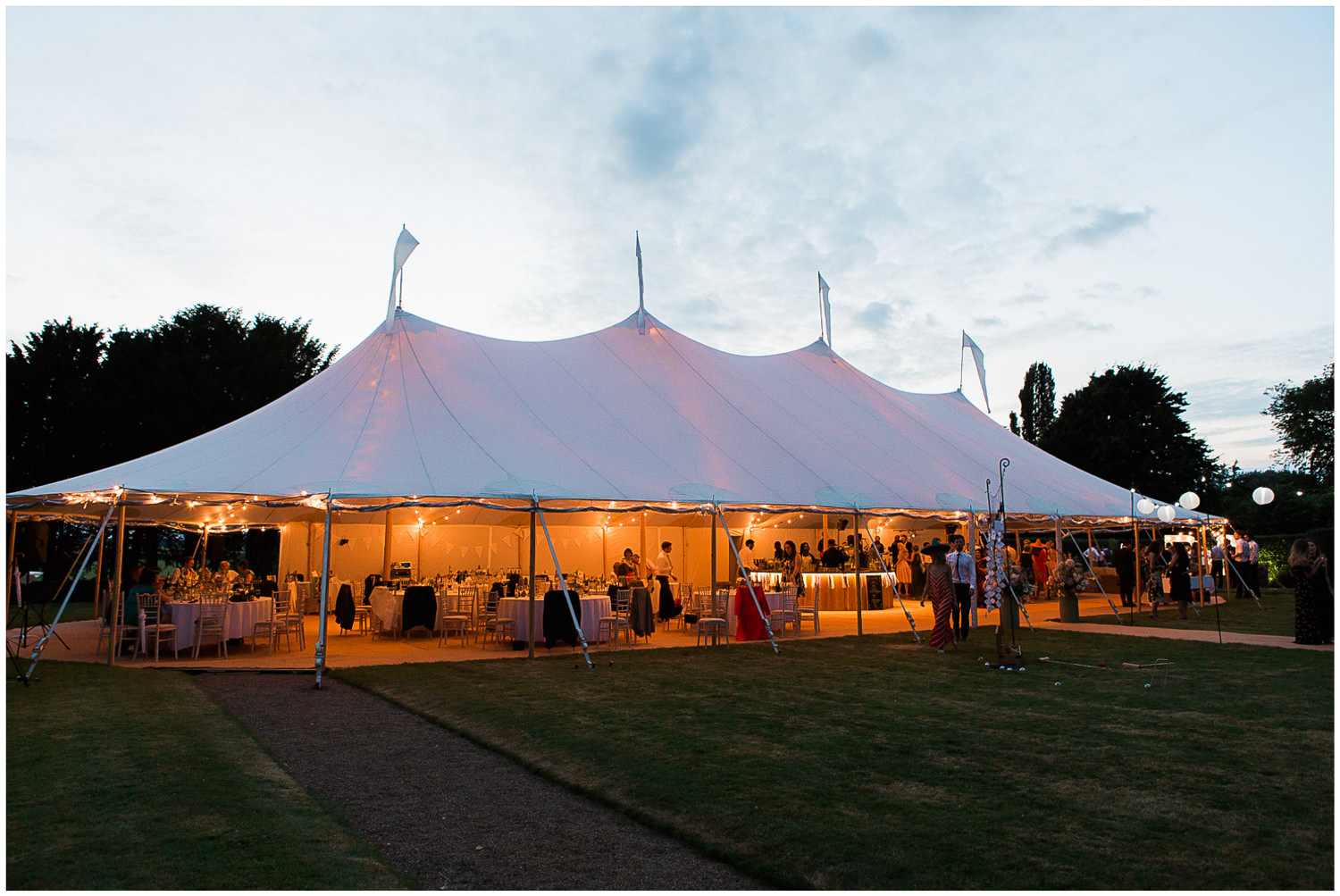 Sperry tent, outdoor wedding, Newington House