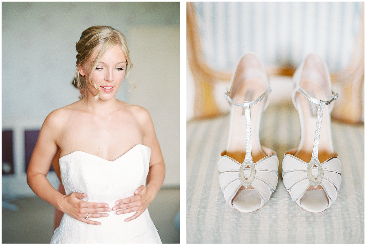 Emmy London, wedding shoes, Naomi Neoh wedding dress