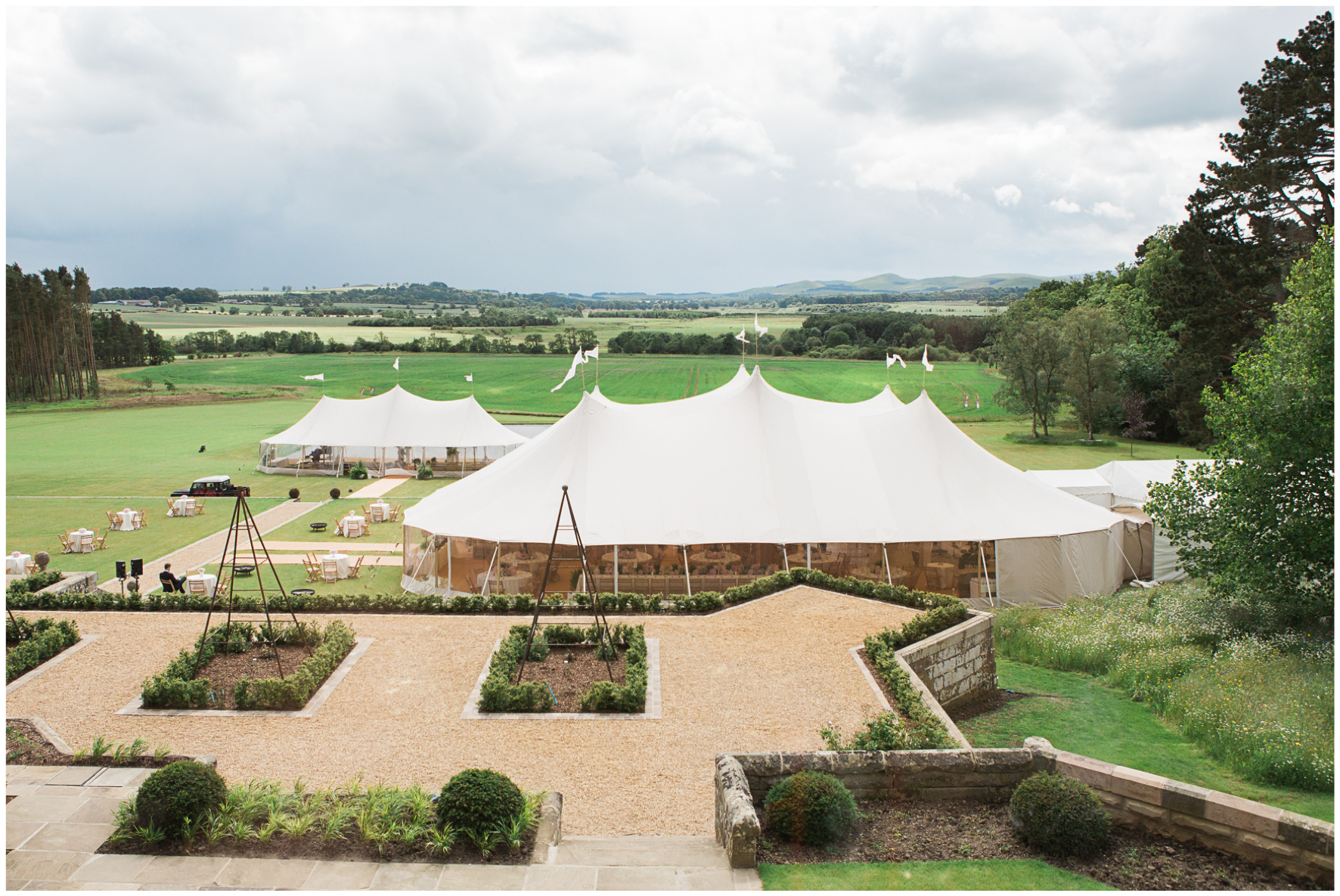 glamping wedding, Lucy Davenport Photography, home wedding, Sperry tent, PapaKata,