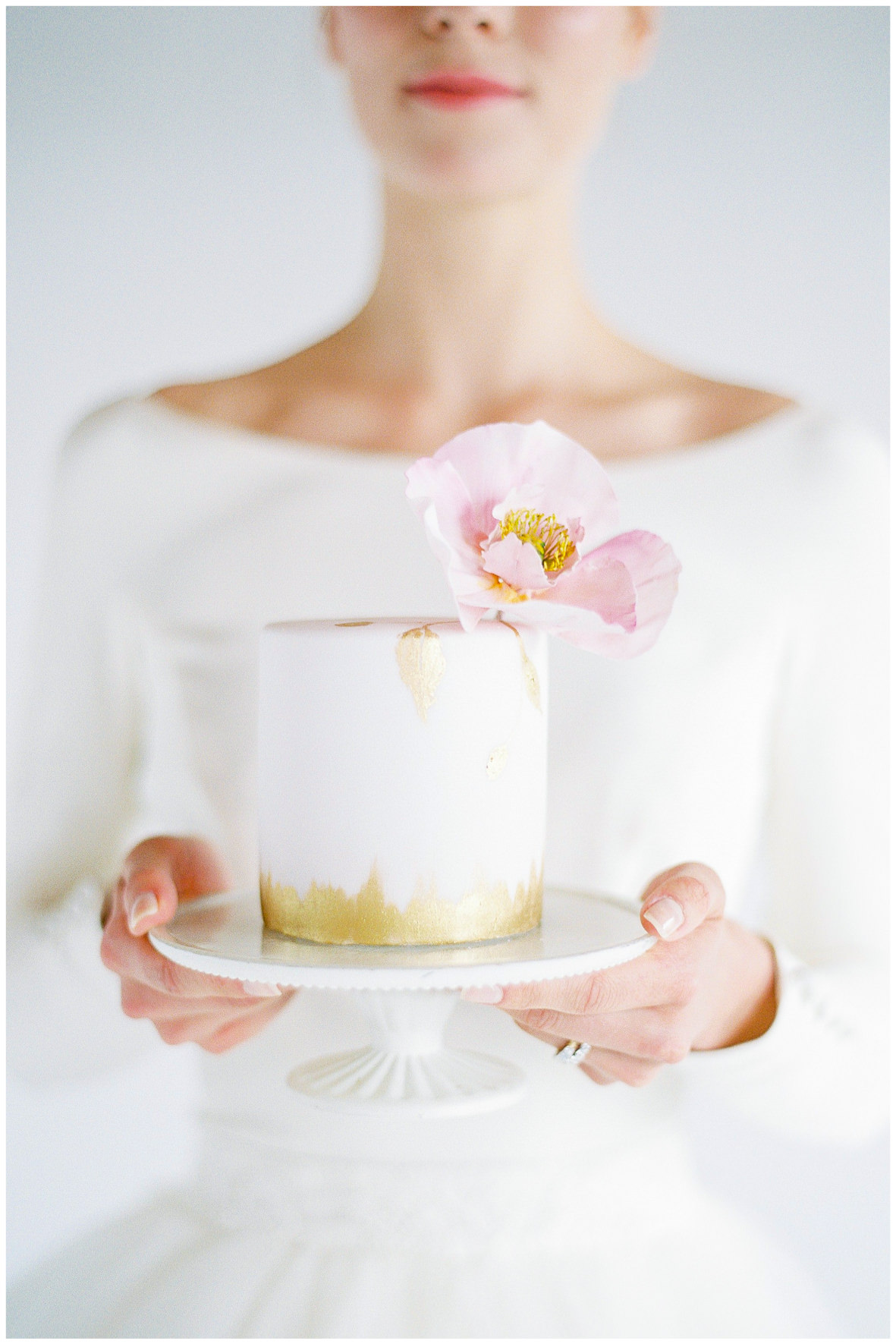 Lucy Davenport Photography, Loft Studios, Rebecca K Events, cake, soft pink, wedding cake, cakes by Krishanthi