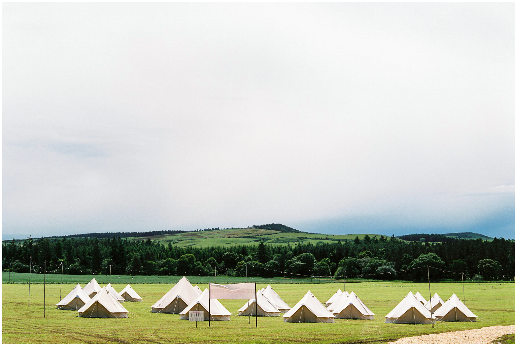 glamping wedding, Lucy Davenport Photography, home wedding, Sperry tent, PapaKata, bell tents