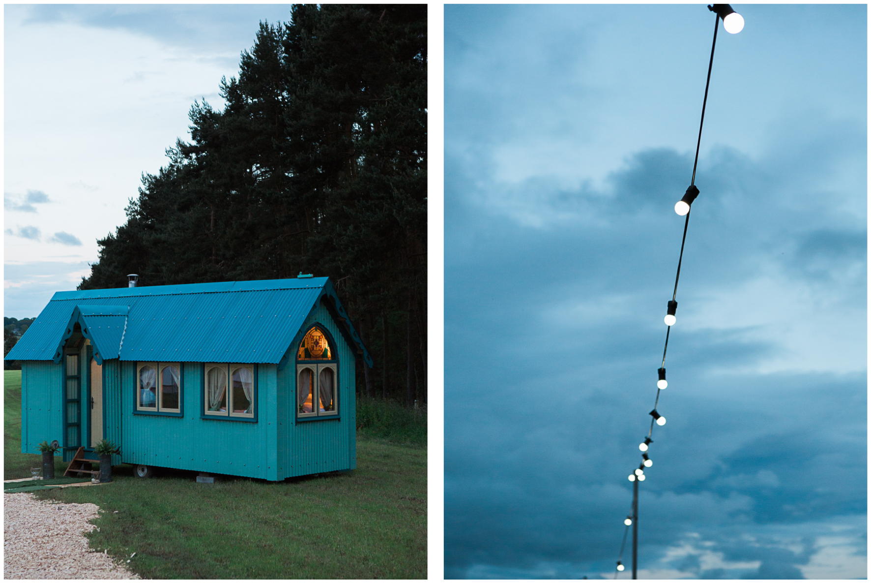 glamping wedding, Lucy Davenport Photography, home wedding, Sperry tent, PapaKata, festoon lighting
