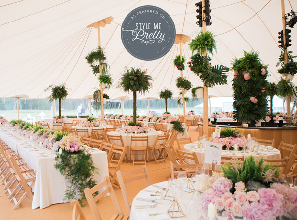 PapaKata sperry tent wedding
