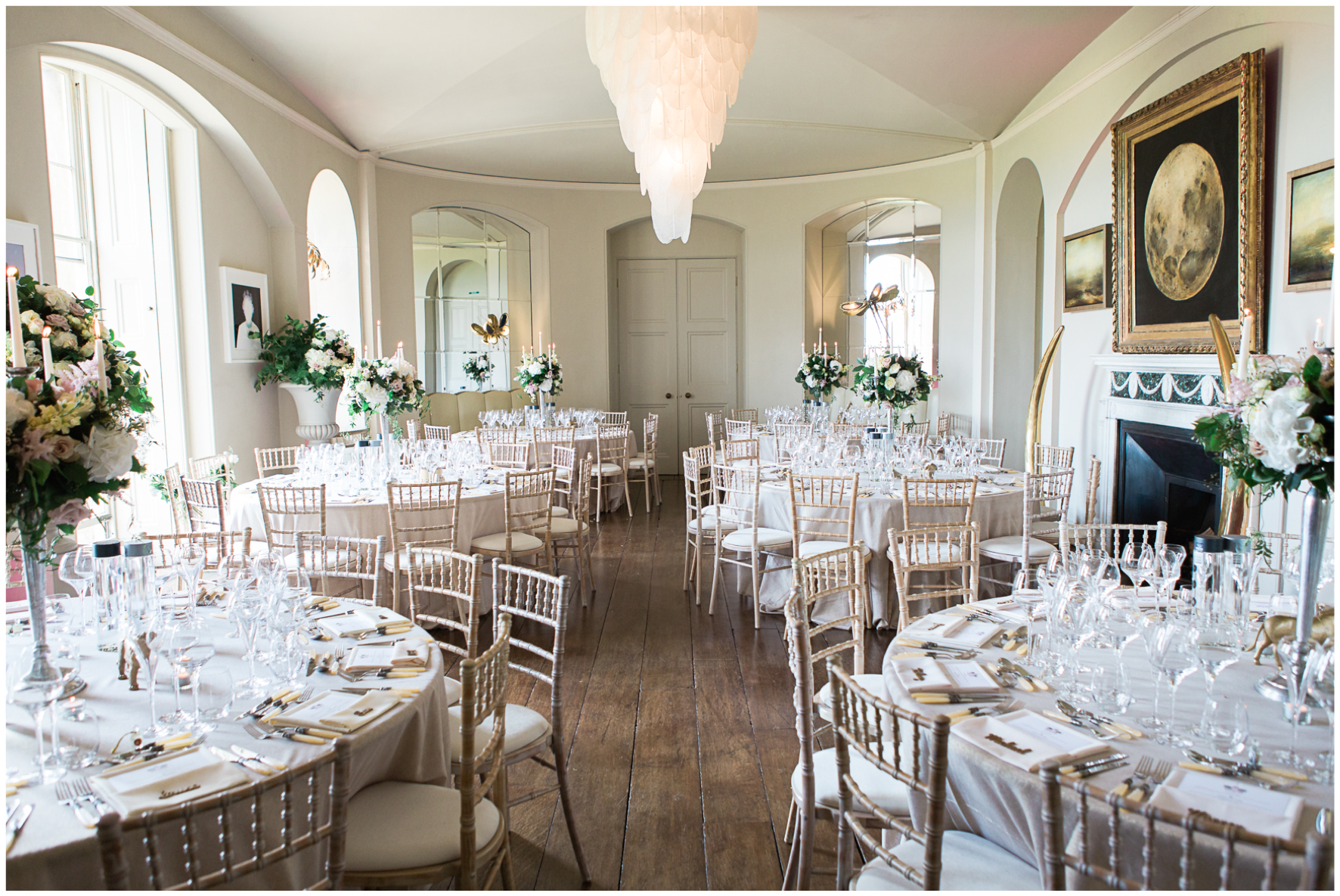 Lucy Davenport Photography, Aynhoe Park, wedding breakfast