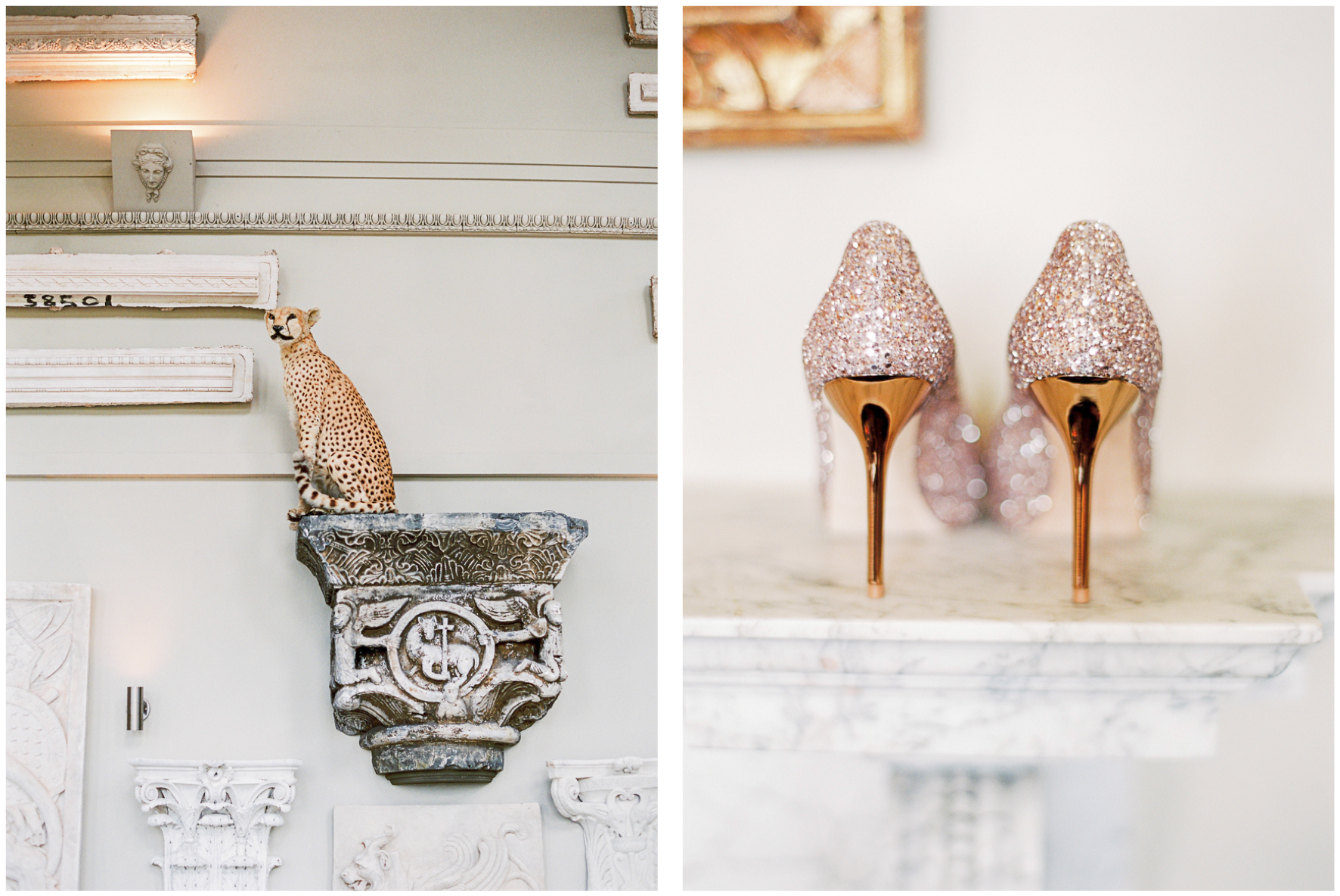 Aynhoe Park, wedding venue, Jimmy Choo glitter shoes