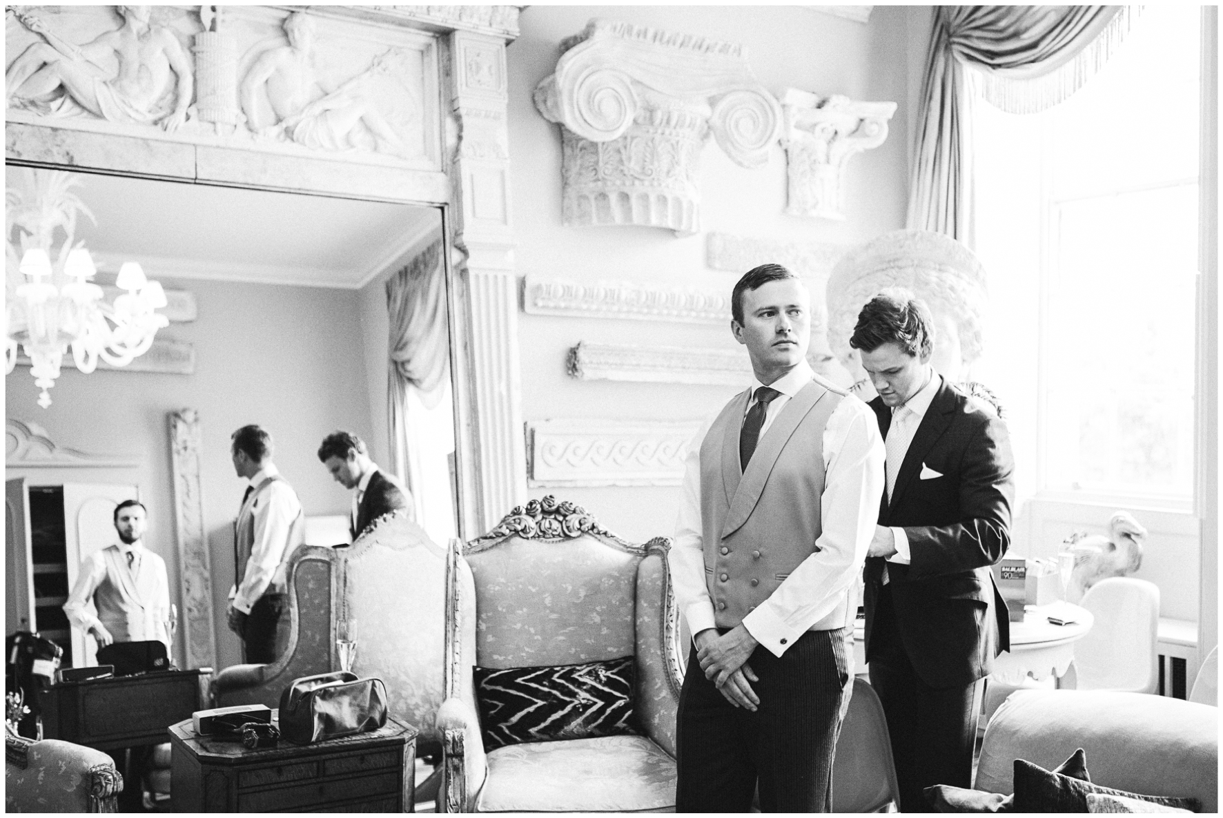 Lucy Davenport Photography, Aynhoe Park, wedding, wedding venue, Oxfordshire, groomsmen