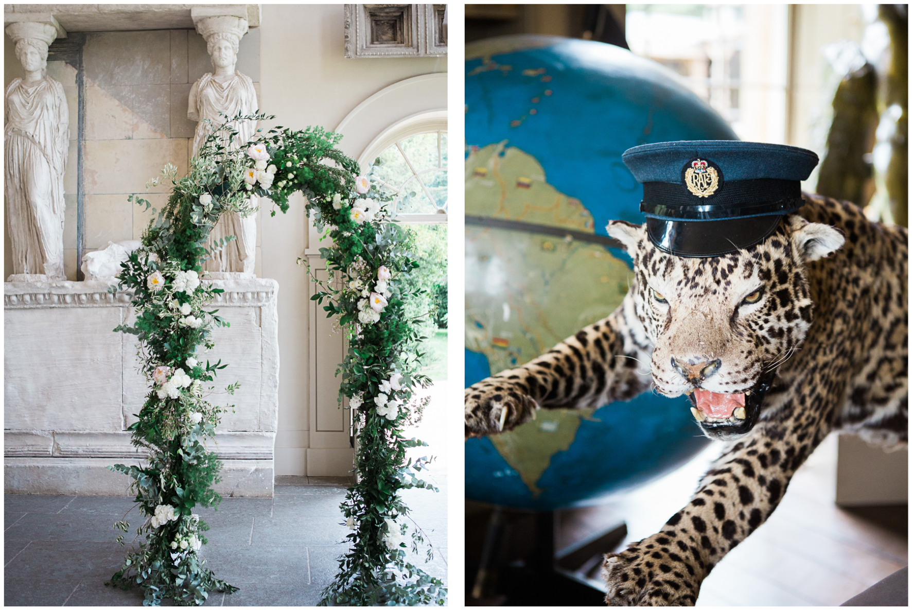 Lucy Davenport Photography, Aynhoe Park, wedding, wedding venue, floral arch