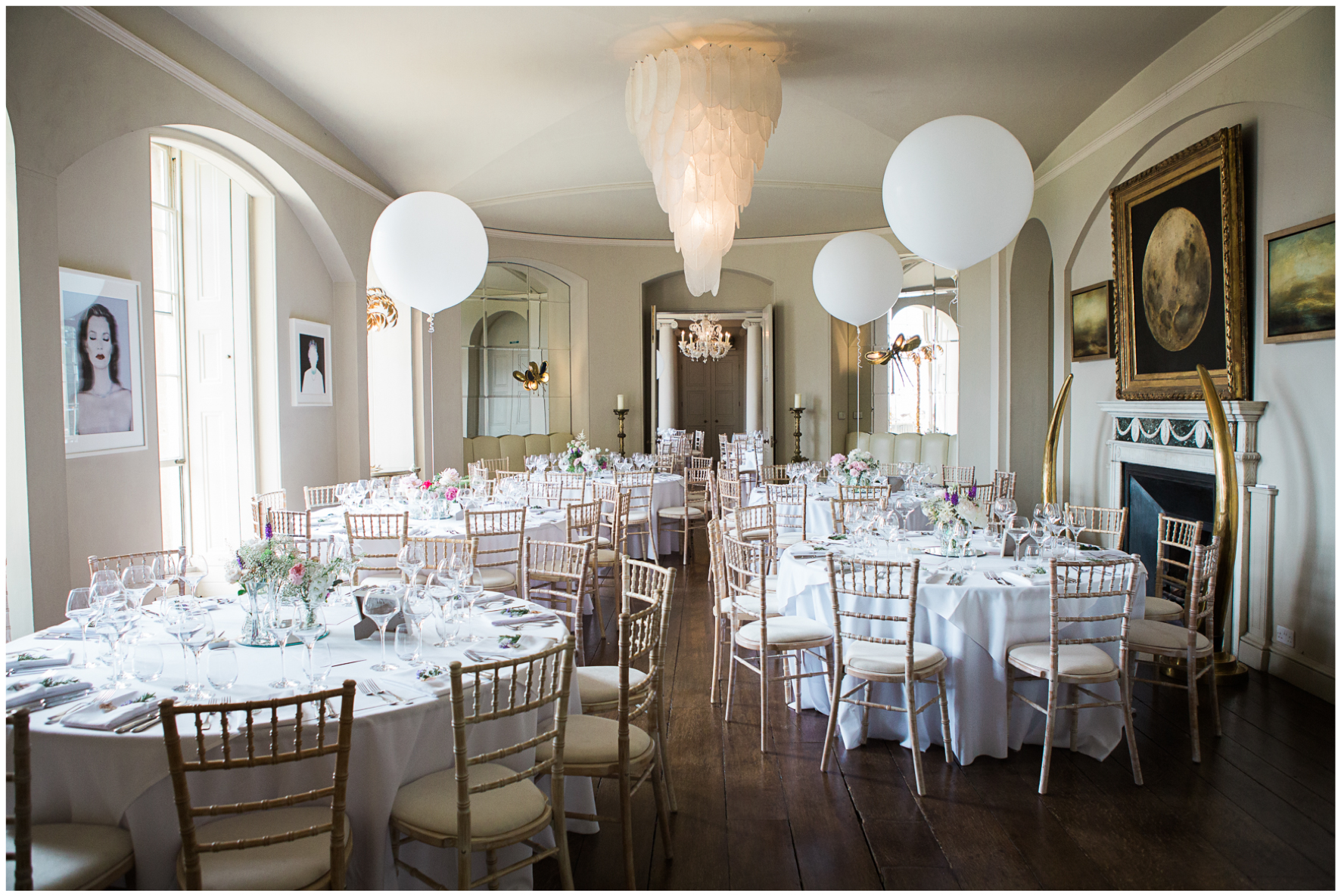 Aynhoe Park wedding, wedding breakfast