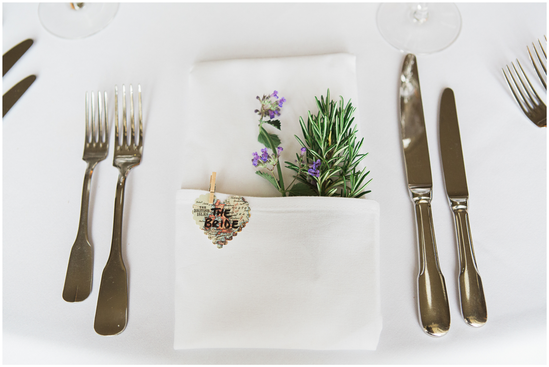 Lucy Davenport Photography, Aynhoe Park, wedding breakfast, rosemary