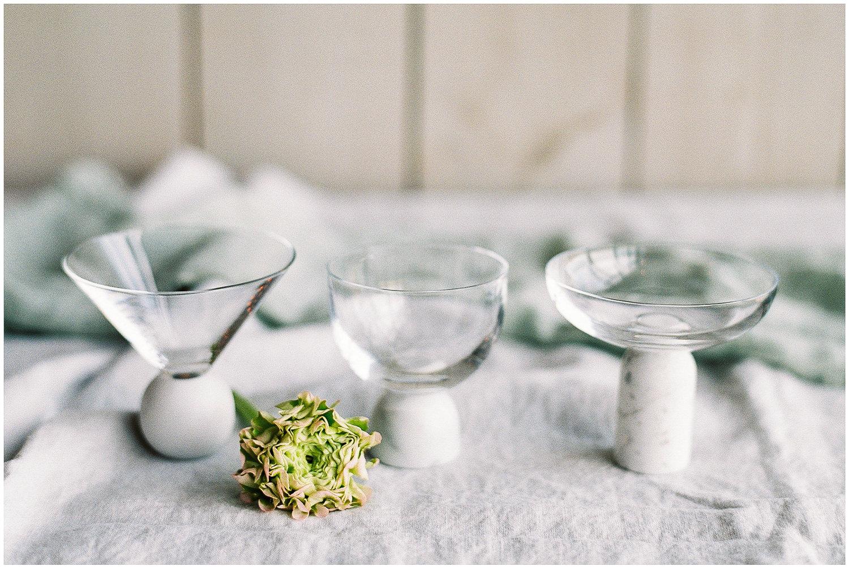 Lee Broom glassware, marble glasses