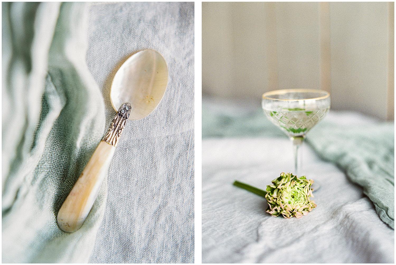 Summer cocktails, antique spoon