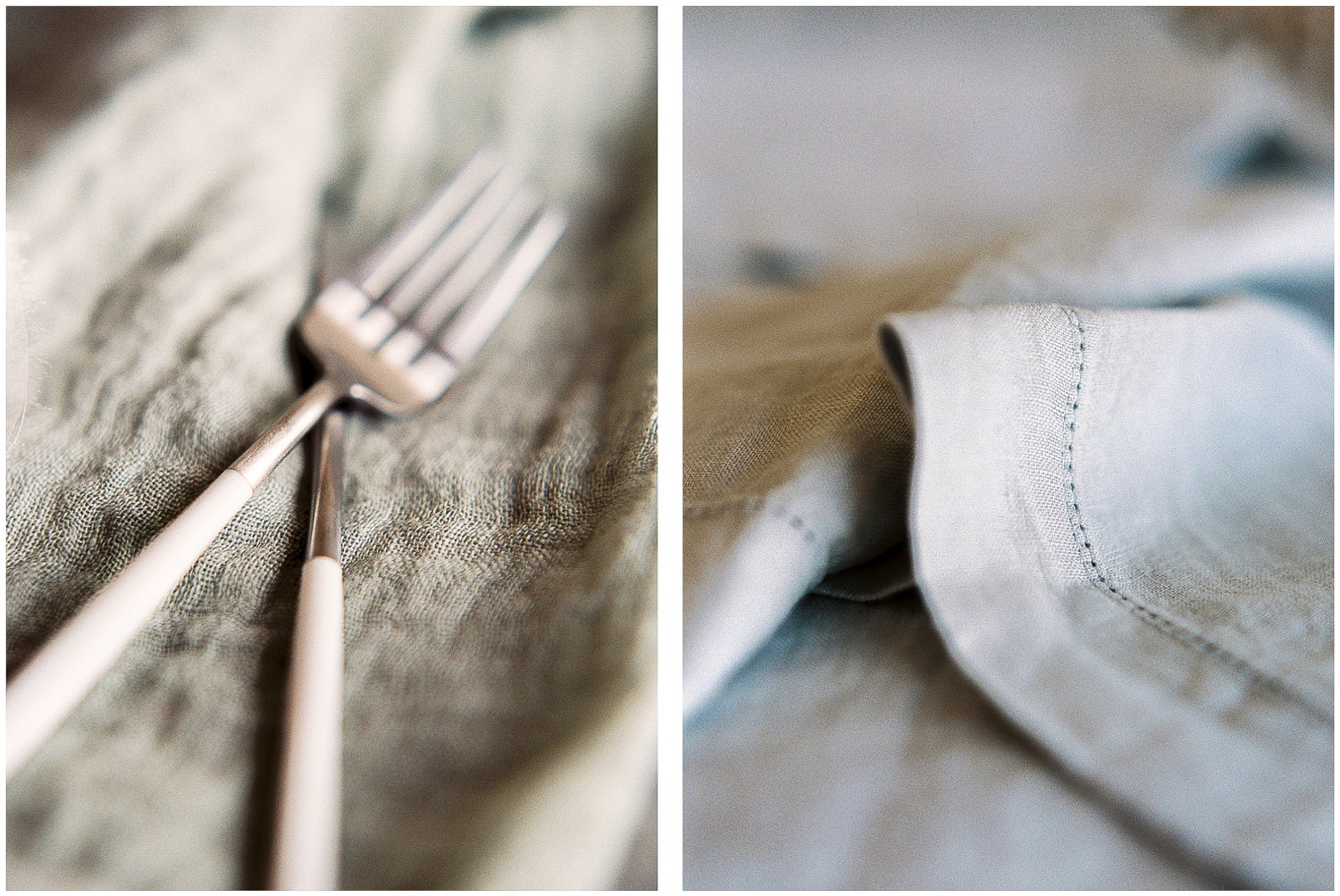 luxury linen and cutlery