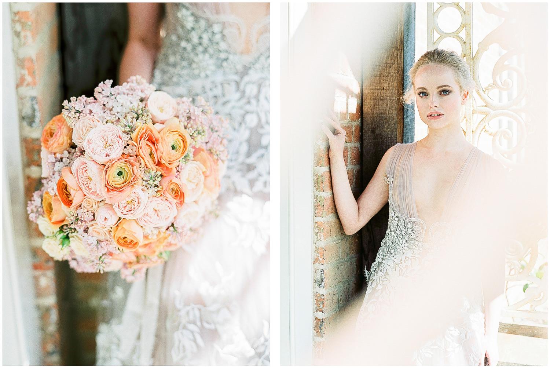 Marco & Maria, coloured wedding dress, embellished