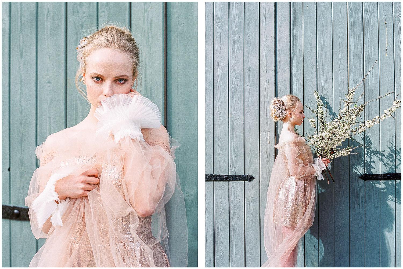 Charlie Brear blush pink sequin dress