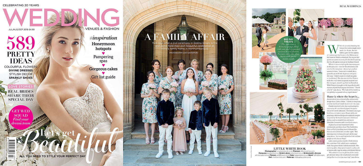 Wedding Venues and Fashion magazine spread