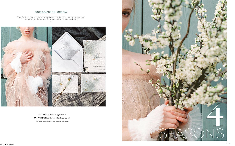 Lucy Davenport Photography, four seasons, Primrose Hill Farm, Oxfordshire, wedding venue, Ever After magazine, Australian wedding, Australia