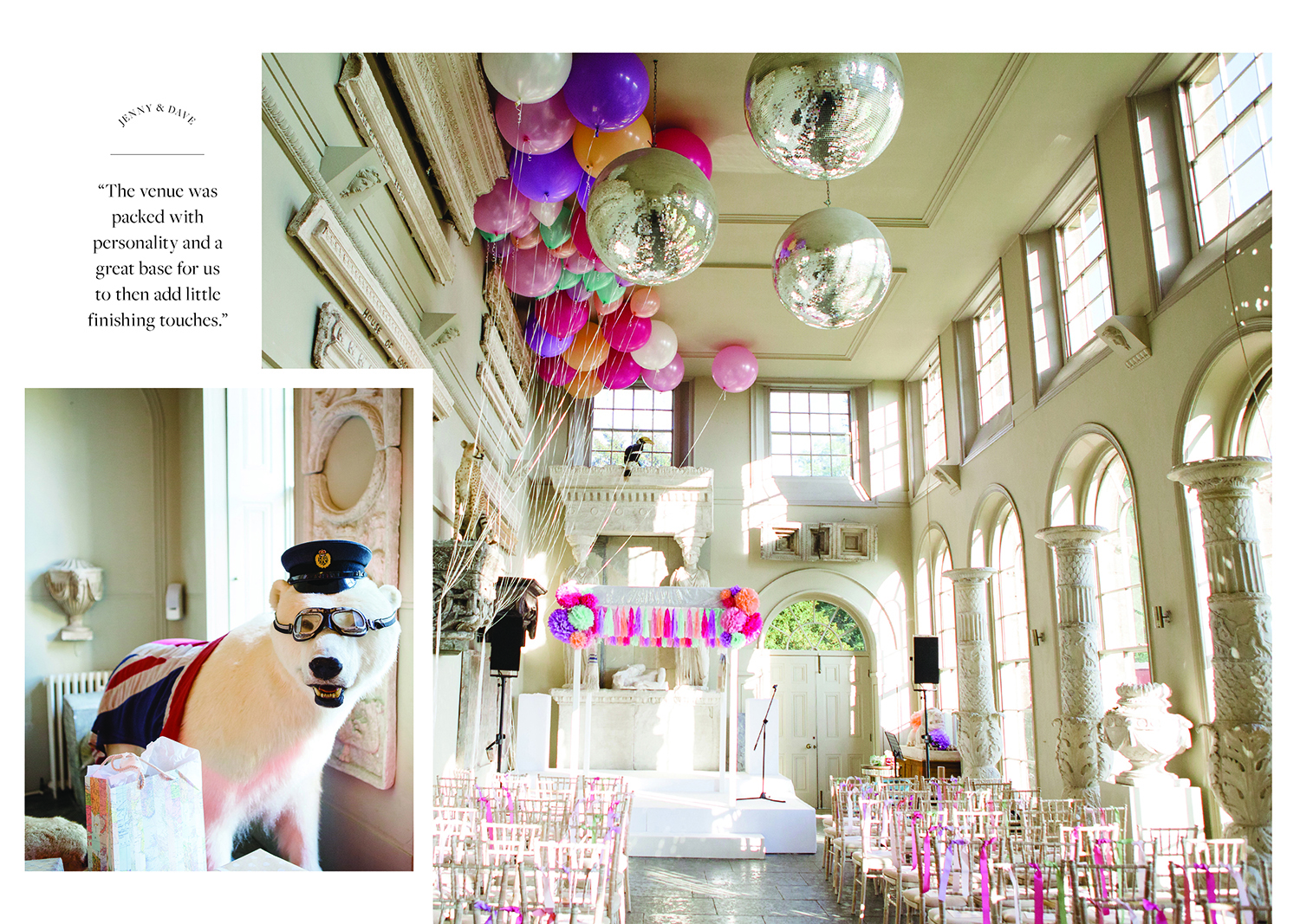 Lucy Davenport Photography, colourful balloon, Rock n Roll Bride, Rock n Roll Bride magazine