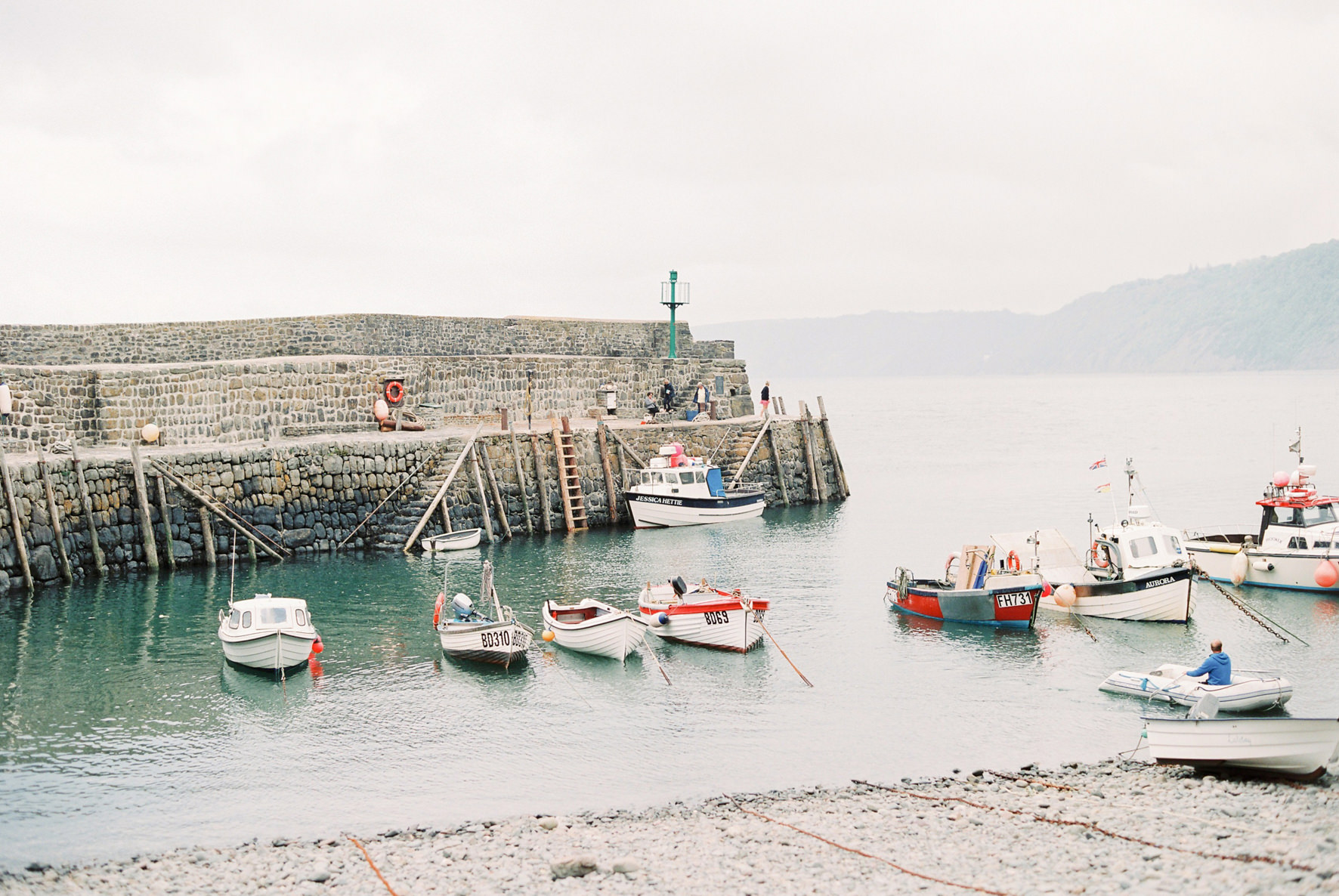 Lucy Davenport Photography, Sirens Song, Clovelly, coastal wedding venue, seaside, boats, sea, fishermen