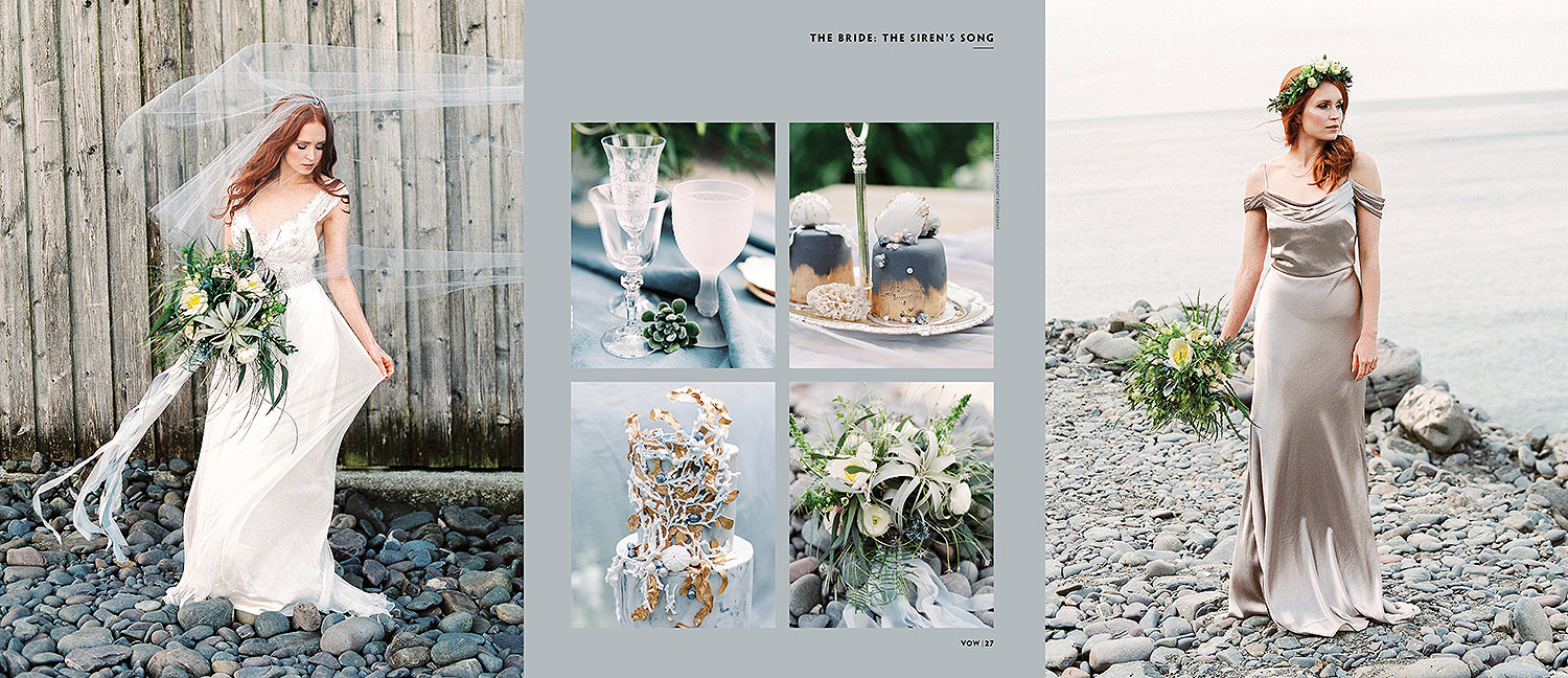 Lucy Davenport Photography, Sirens Song, Clovelly, coastal wedding venue, Vow magazine